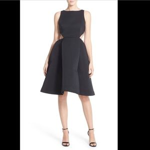 NEW Halston Heritage Side Cutout Flare Dress in 4